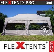 Quick-up telt FleXtents Pro 3x6m latte, inkl. 6 sidevegger og 6...