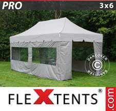 Quick-up telt FleXtents Pro 3x6m Latte, inkl. 6 sider