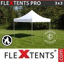 Quick-up telt FleXtents Pro 3x3m Hvit, Flammehemmende