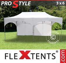 Quick-up telt FleXtents Pro 3x6m Hvit, inkl. 6 sider