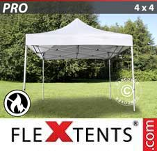 Quick-up telt FleXtents Pro 4x4m Hvit, Flammehemmende