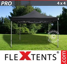 Quick-up telt FleXtents Pro 4x4m Svart