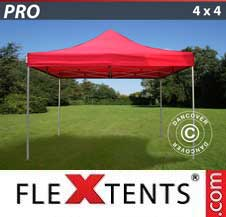 Quick-up telt FleXtents Pro 4x4m Rød