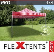 Quick-up telt FleXtents Pro 4x4m stripet