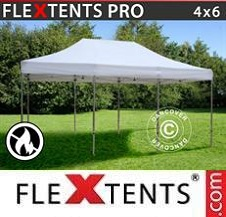 Quick-up telt FleXtents Pro 4x6m Hvit, Flammehemmende