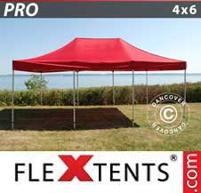 Quick-up telt FleXtents Pro 4x6m Rød