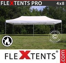 Quick-up telt FleXtents Pro 4x8m Hvit, Flammehemmende