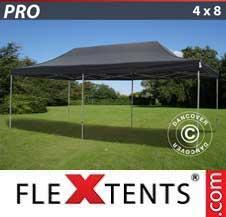 Quick-up telt FleXtents Pro 4x8m Svart