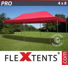 Quick-up telt FleXtents Pro 4x8m Rød