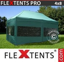 Quick-up telt FleXtents Pro 4x8m Grønn, inkl. 6 sider