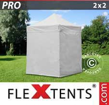 Quick-up telt FleXtents Pro 2x2m Hvit, inkl. 4 sider