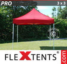 Quick-up telt FleXtents Pro 3x3m Rød