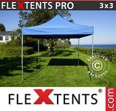 Quick-up telt FleXtents Pro 3x3m Blå