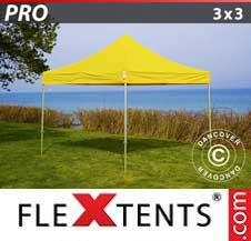 Quick-up telt FleXtents Pro 3x3m Gul