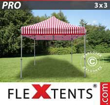 Quick-up telt FleXtents Pro 3x3m stripet
