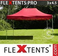 Quick-up telt FleXtents Pro 3x4,5m Rød