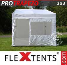 Quick-up telt FleXtents Pro 2x3m Hvit, inkl. 4 sider
