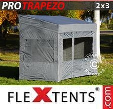Quick-up telt FleXtents Pro 2x3m Grå, inkl. 4 sider
