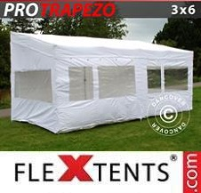 Quick-up telt FleXtents Pro 3x6m Hvit, inkl. 4 sider