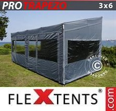 Quick-up telt FleXtents Pro 3x6m Grå, inkl. 4 sider