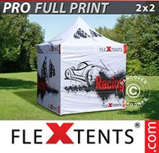 Quick-up telt FleXtents Pro 2x2m, inkl. 4 sider