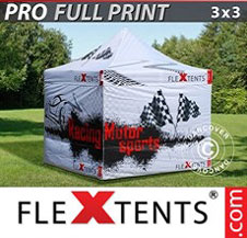 Quick-up telt FleXtents Pro 3x3m, inkl. 4 sider