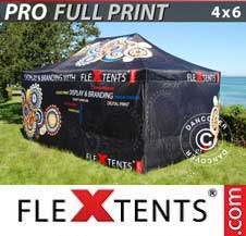 Quick-up telt FleXtents Pro 4x6m, inkl. 4 sider