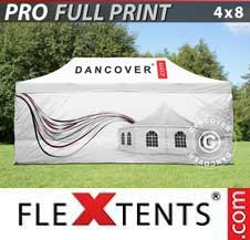 Quick-up telt FleXtents Pro 4x8m, inkl. 4 sider
