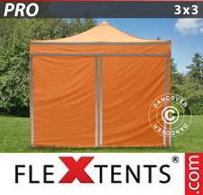 Quick-up telt FleXtents Pro 3x3m Oransje reflekterende, inkl. 4...