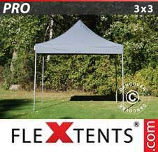 Quick-up telt FleXtents Pro 3x3m Grå