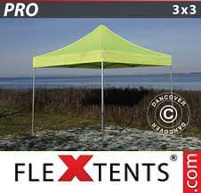 Quick-up telt FleXtents Pro 3x3m Neongul/grønn
