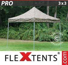 Quick-up telt FleXtents Pro 3x3m Kamuflasje