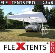 Quick-up telt FleXtents Pro 2,5x5m Hvit