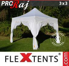 Quick-up telt FleXtents Pro 3x3m Hvit/Gull