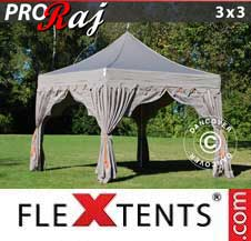 Quick-up telt FleXtents Pro 3x3m Latte/Oransje