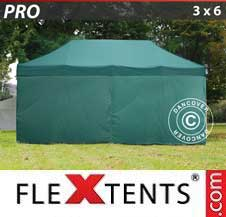 Quick-up telt FleXtents Pro 3x6m Grønn, inkl. 6 sider