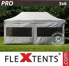 Quick-up telt FleXtents Pro 3x6m Sølv, inkl. 6 sider