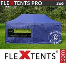 Quick-up telt FleXtents Pro 3x6m Mørk blå, inkl. 6 sider