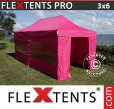 Quick-up telt FleXtents Pro 3x6m Rosa, inkl. 6 sider