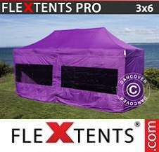 Quick-up telt FleXtents Pro 3x6m Lilla, inkl. 6 sider
